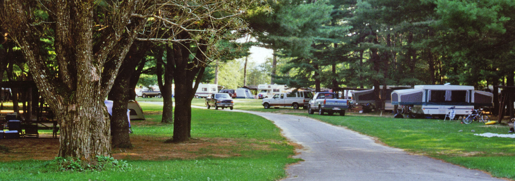 Campsites Tents RVs Pop-Ups at Eastern Slope Camping Area