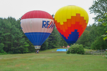 Hot Air Balloons at Eastern Slope Camping Area