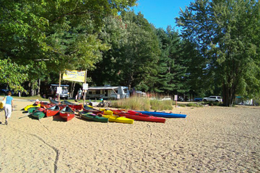 Eastern Slope Camping Area Kayaks