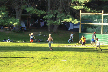 Eastern Slope Camping Area Kids Playing in Ballpark