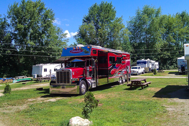 Eastern Slope Camping Area Red Truck